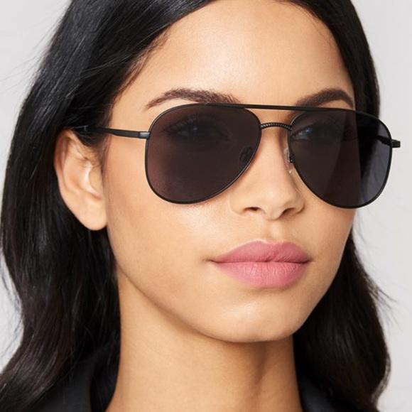 9960e202fb4 Le Specs Kingdom Aviator Sunglasses Matte Black